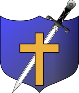 Cross Sword And Shield No Letters Clip Art
