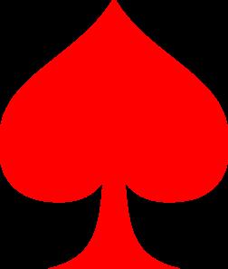 Red Spade Ace Clip Art at Clker.com - vector clip art online, royalty ...