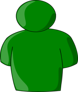 Person Buddy Symbol Green Clip Art