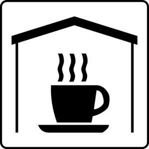Hotel Icon Has Coffee In Room Clip Art