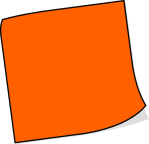 Orange Sticky Note Clip Art