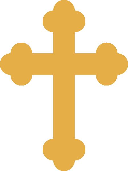 Orthodox Cross Tattoo Gold