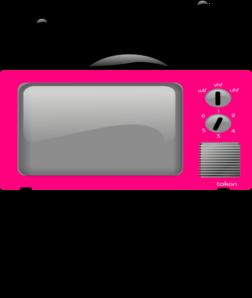 big pink tv clip art at vector clip art online royalty free public domain. Black Bedroom Furniture Sets. Home Design Ideas