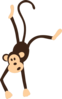Hanging Monkey Clip Art