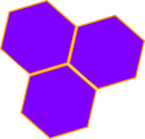 Purple Hive Hex Clip Art