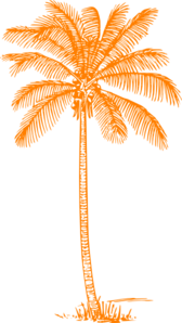 Orange Palm Tree Clip Art