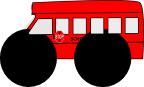 Red Bus School Clip Art