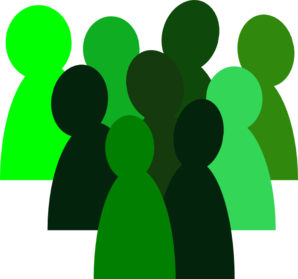 3% Green Crowd Clip Art