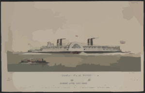 The Great American Steamer, General Washington, The Largest Boat In The World To Be Built And Run On The New National Line, Between New York And Albany  / Drawn On Stone By C. Parsons ; Invented, Designed, And Drawn By Darius Davison, New York. Clip Art