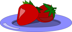 Strawberries On A Plate Clip Art