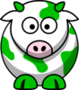 Cow Green Clip Art