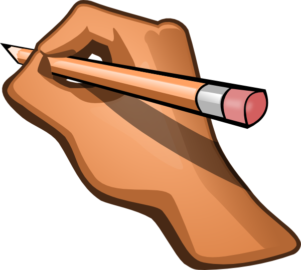 Hand Writing Clip Art at Clker.com - vector clip art ...