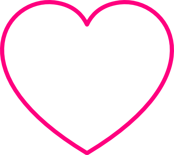 Gray Heart With Pink Outline clip artPink Heart Outline Png