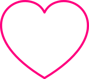 Gray Heart With Pink Outline Clip Art