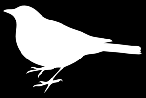 White Bird Black Back Clip Art