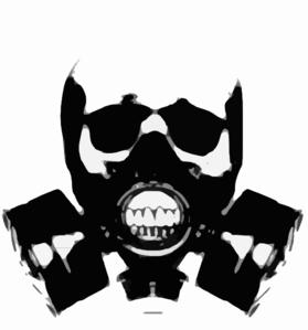 skull gas mask bones clip art at clker com vector clip art online rh clker com Gas Mask Skull Drawings Gas Mask Skull Drawings