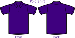 Polo Purple T Shirt 2 Clip Art