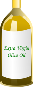 Extra Virgin Olive Oil Bottle Clip Art