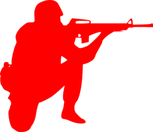 Red Soldier2 Clip Art