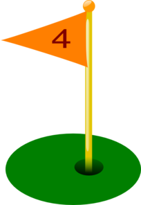 Golf Flag 4th Hole Clip Art