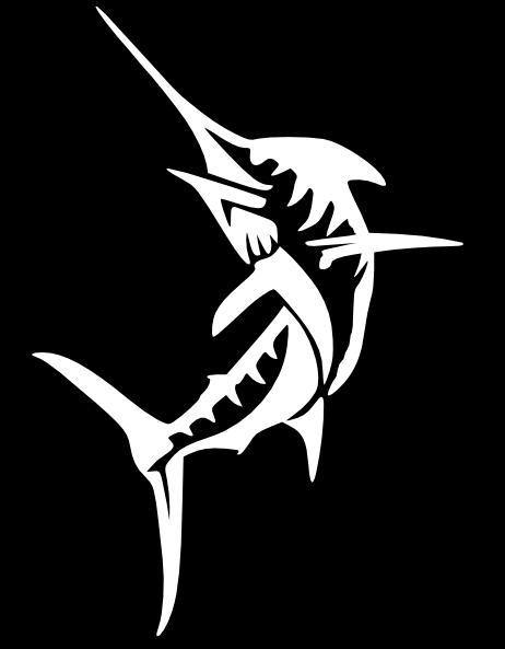 Black Marlin Clip Art at Clker.com - vector clip art ...