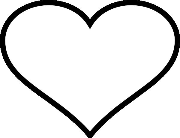 Heart Black Outline Clip Art at Clker.com - vector clip ...