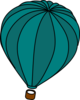 Hot Air Balloon Teal Blue Clip Art