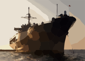 The Amphibious Command Ship Uss Blue Ridge (lcc/jcc 19) Sits Anchored In Pyongtaek Bay Clip Art