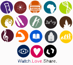 School Subjects Icons Logos By Art Acolyte Clip Art