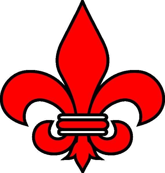 Red Fleur De Lis Clip Art at Clker.com - vector clip art online ...