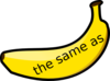 Banana Maths Vocabulary The Same As 1 Clip Art