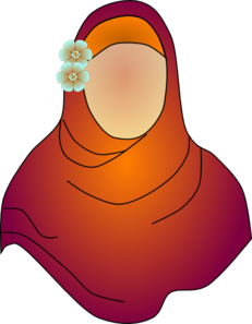 Hijab No Face Flower Clip Art