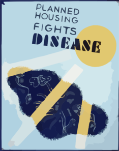 Planned Housing Fights Disease Clip Art