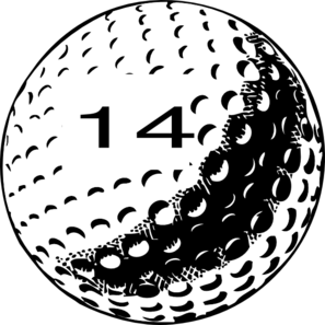 Golf Ball Number 14 Clip Art