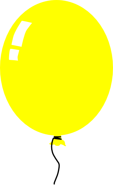 clipart yellow balloons - photo #6