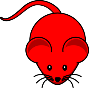Dark Red Mouse Clip Art