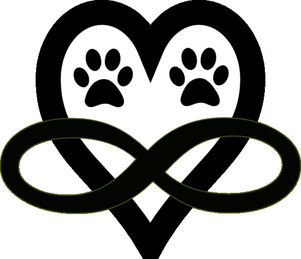 infinity single cerise clip art at clker com vector clip paw print clip art free paw print clip art free images