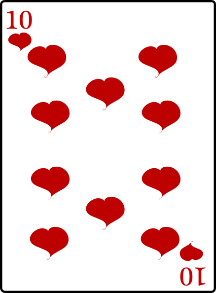 10 Of The Best Books On Italy: 10 Of Hearts Clip Art At Clker.com