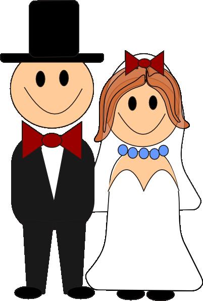 Bride And Groom Clip Art at Clker.com - vector clip art ...
