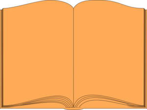 Orange Book Clip Art