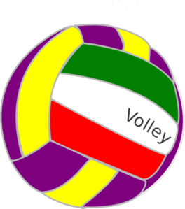 Colorful Volleyball Clip Art