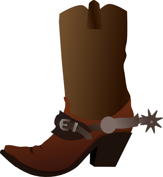 Cowboy Boot Clip Art at Clker.com - vector clip art online, royalty ...