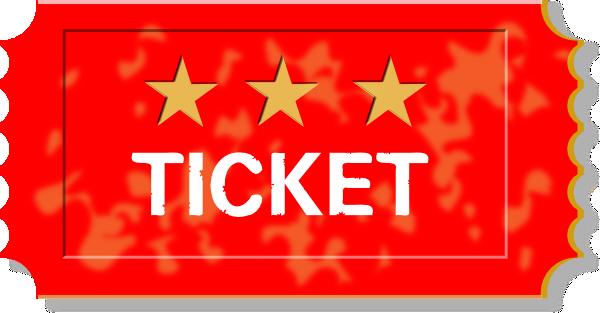 Christmas Raffle Ticket Clip Art Red ticket clip art - vector