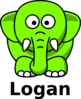 Lime Green Elephants Clip Art