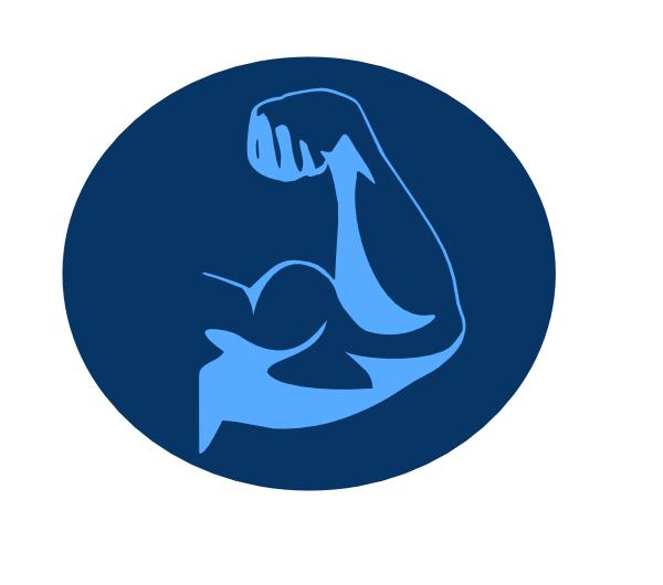 Blue Muscle Arm Clip Art At Clker Com Vector Clip Art