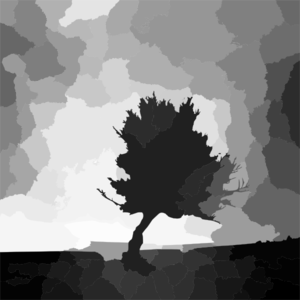 Tree Alone Filter Clip Art