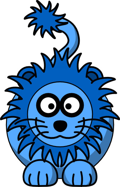 Blue Lion Clip Art at Clker.com - vector clip art online, royalty free ...