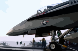 A Shooter Prepares To Launch An F/a-18 Hornet Clip Art