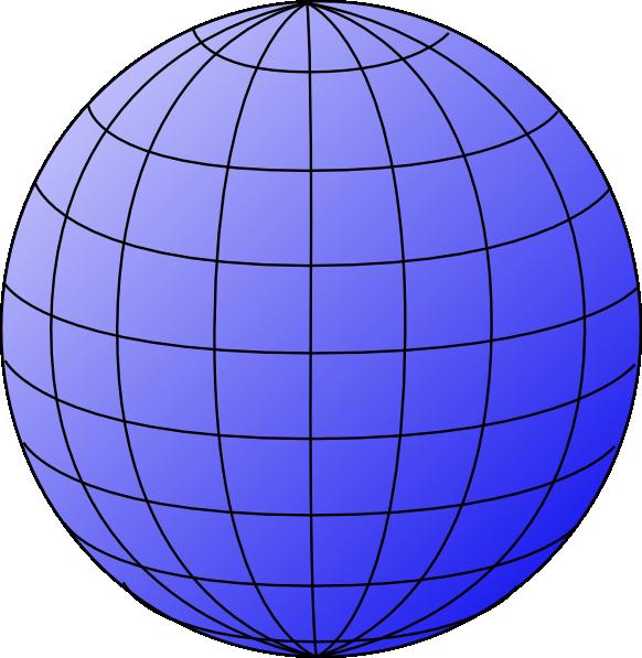 Big Blue Wire Globe Clip Art at Clker.com - vector clip ...