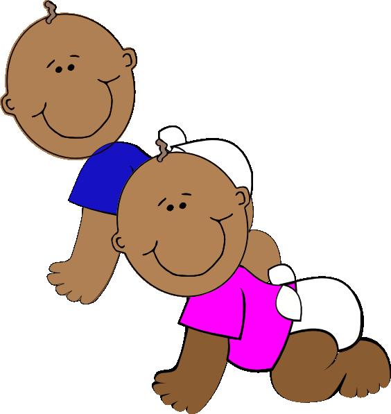 African American Twins Clip Art At Clker Com Vector Clip
